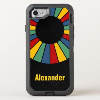 Runder Strahln-Spant 01 + Ihr backgr. u. Ideen OtterBox Defender iPhone 8/7 Hülle