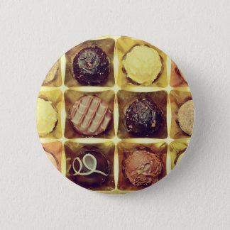 Rundes Abzeichen des Schokoladenkastens Runder Button 5,1 Cm