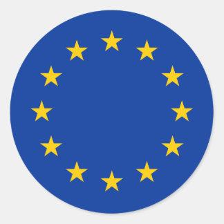 Rundes Aufkleber | der europäischen