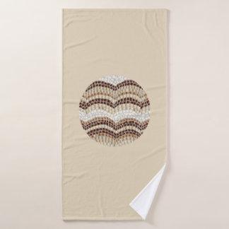 Rundes beige Mosaik-Bad-Tuch Badehandtuch