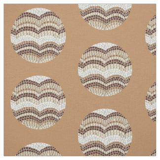 Rundes beige Mosaik gekämmtes Baumwollgewebe Stoff