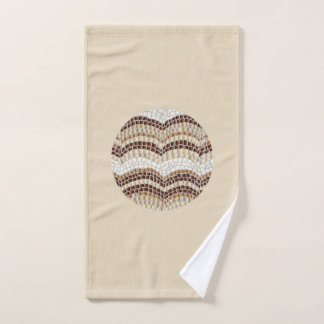Rundes beige Mosaik-Handtuch Handtuch