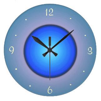 Rundes Blau/Aqua>Wall Uhr