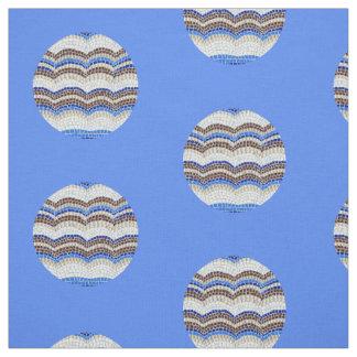 Rundes blaues Mosaik gekämmtes Baumwollgewebe Stoff