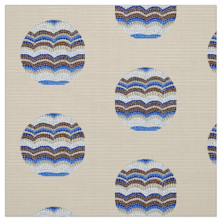 Rundes blaues Mosaik-Polyester-Popelin-Gewebe Stoff