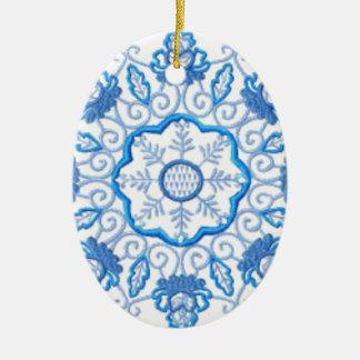 Rundes Blumen-Bild Keramik Ornament