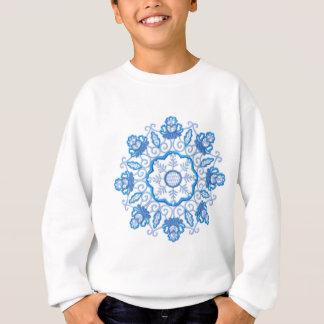 Rundes Blumen-Bild Sweatshirt