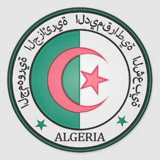 Rundes Emblem Algeriens Runder Aufkleber