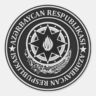 Rundes Emblem Aserbaidschans Runder Aufkleber