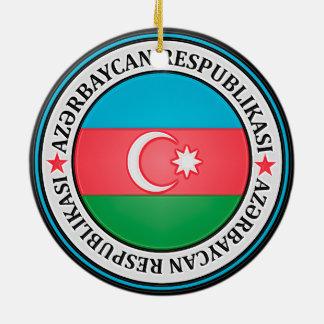 Rundes Emblem Aserbaidschans Rundes Keramik Ornament