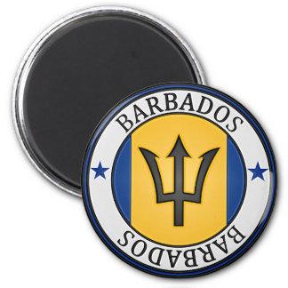 Rundes Emblem Barbados Runder Magnet 5,7 Cm