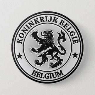 Rundes Emblem Belgiens Runder Button 7,6 Cm