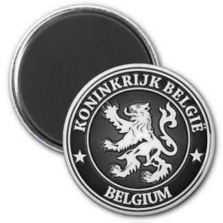 Rundes Emblem Belgiens Runder Magnet 5,1 Cm