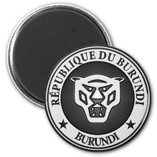 Rundes Emblem Burundis Runder Magnet 5,7 Cm