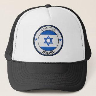 Rundes Emblem Israels Truckerkappe
