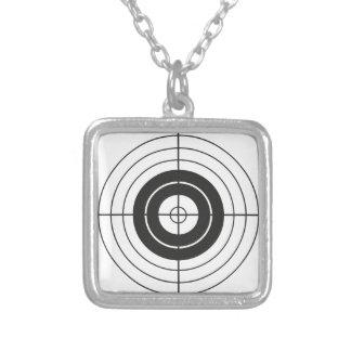 rundes Kennzeichen des Zielkreis-Entwurfs Versilberte Kette