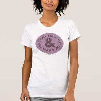 Rundes Logo 7 Toms und Jerry T-Shirt