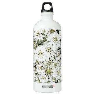 Rundes modernes DES des weißen Spitzeentwurf Aluminiumwasserflasche