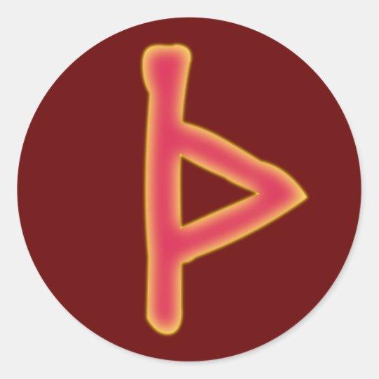 rune Thurisaz futhark Runder Aufkleber