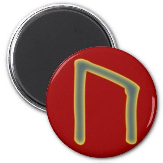 rune Uruz Futhark Runder Magnet 5,1 Cm