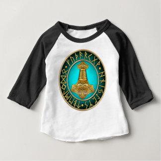 Runen - Thors-Hammer - aquamarin Baby T-shirt