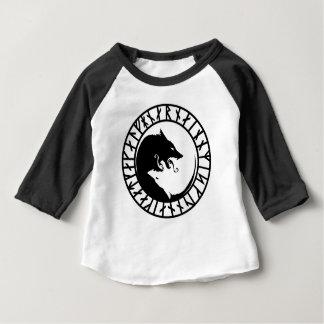 Runic entsetzliche Wolfwikinger-Skandinavier Baby T-shirt
