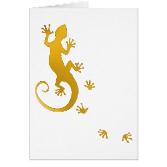 Running Gecko gold | transparenter Hintergrund Karte