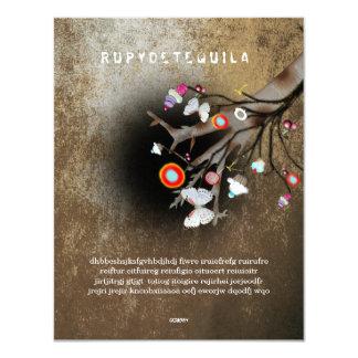 Rupydetequila Children´s Illustration 2013 10,8 X 14 Cm Einladungskarte