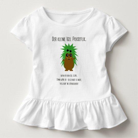 Rüschenshirt mit Igel-Gedicht Kleinkind T-shirt