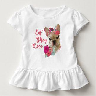 Rüschet-stück mit niedlichem Kunstentwurf der Kleinkind T-shirt