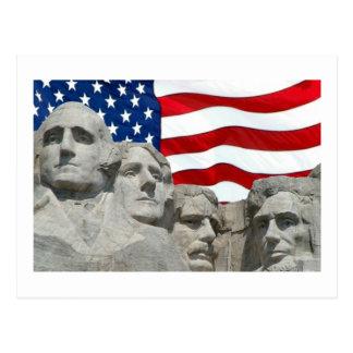 Rushmore/Flagge Postkarte