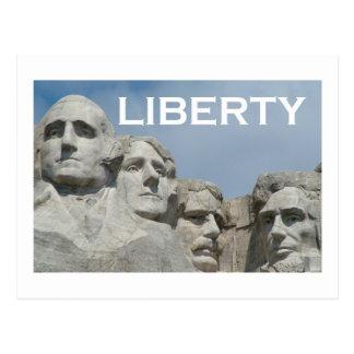 Rushmore/Freiheit Postkarte