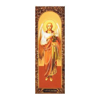 Russian Icon Archangel Gabriel  Wrapped Canvas Leinwanddruck