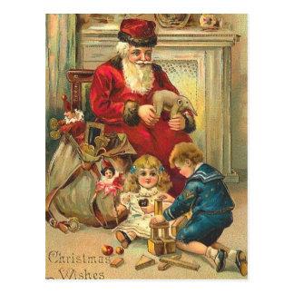 Russische Art-Sankt-Weihnachtskarten-Spielwaren Postkarte