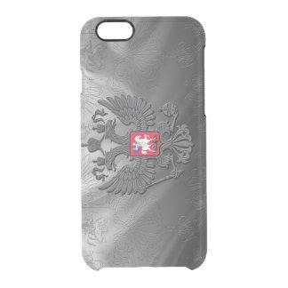 Russische doppelte Adlersymbolflagge Durchsichtige iPhone 6/6S Hülle