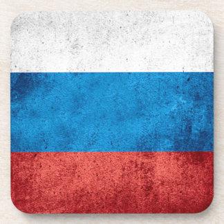 Russische Flagge Getränkeuntersetzer