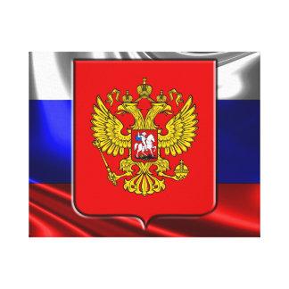 Russische Flagge Leinwanddruck