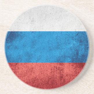 Russische Flagge Sandstein Untersetzer