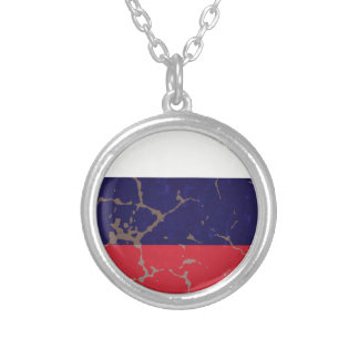 Russische Flagge Versilberte Kette
