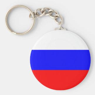 Russische Flaggen-Schlüsselkette Standard Runder Schlüsselanhänger