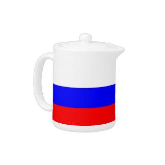 Russische Flaggen-Teekanne