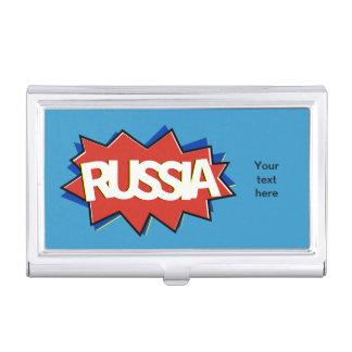 Russische Flaggensternexplosion Visitenkarten Etui