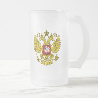 Russische Föderations-Wappen Matte Glastasse
