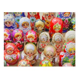 Russische genistete Puppen Postkarte