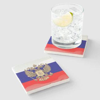Russische glatte Flagge Steinuntersetzer