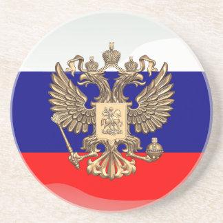 Russische glatte Flagge Untersetzer