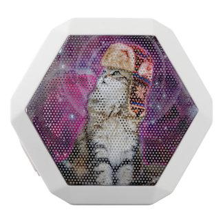 russische Katze im Raum Weiße Bluetooth Lautsprecher