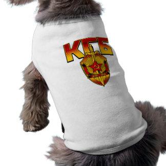 Russische KGB Abzeichen-Sowjet-Ära Ärmelfreies Hunde-Shirt