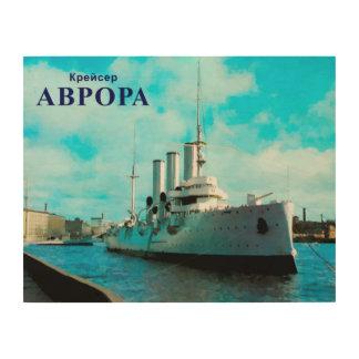 Russische Kreuzer-Aurora Holzwanddeko