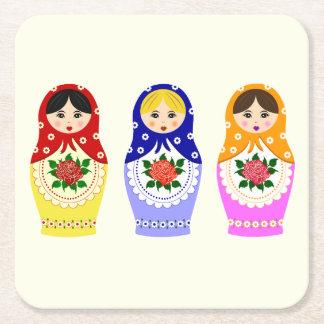 Russische matryoshka Puppen Rechteckiger Pappuntersetzer